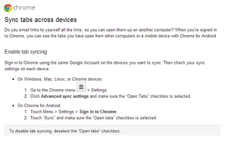 Sync Chrome Across Devices