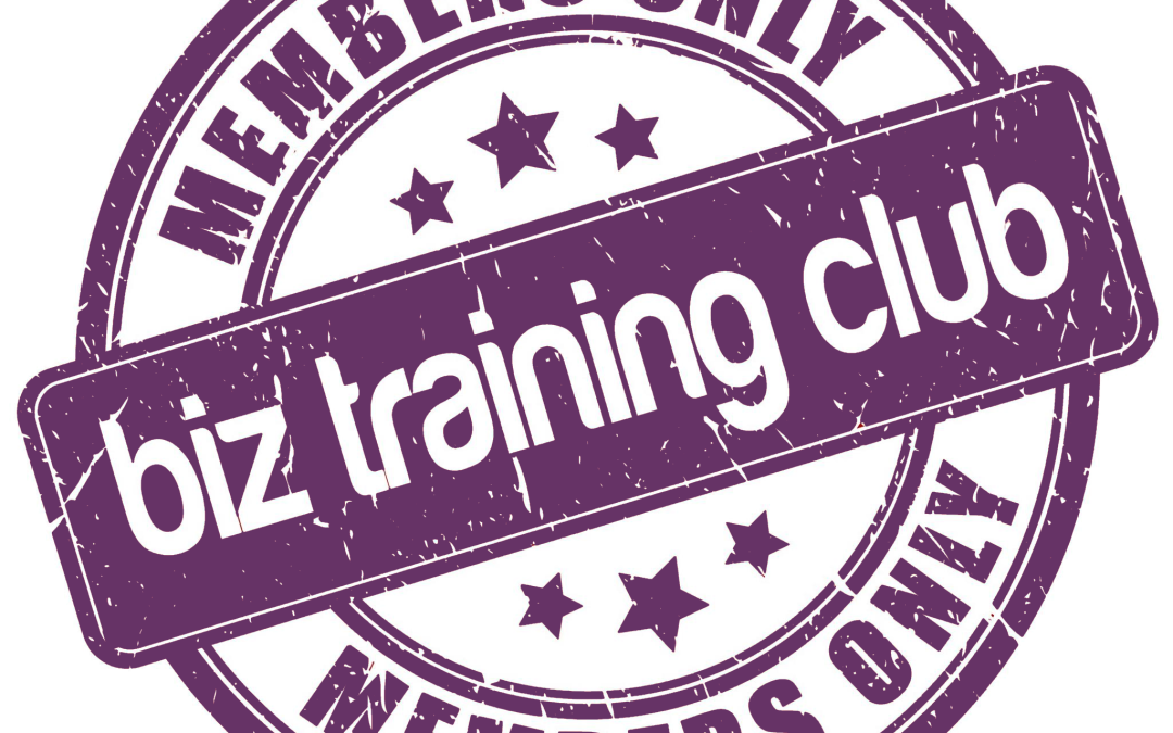 Biz Training Club changes in January 2015