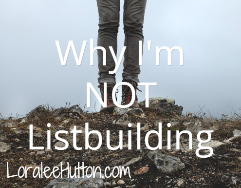 Why I'm no longer proactively list building