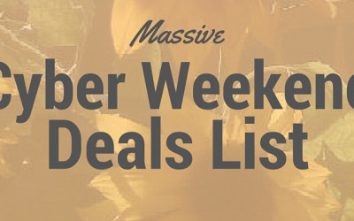 Massive Cyber Weekend Deals List Nov 27-30, 2015
