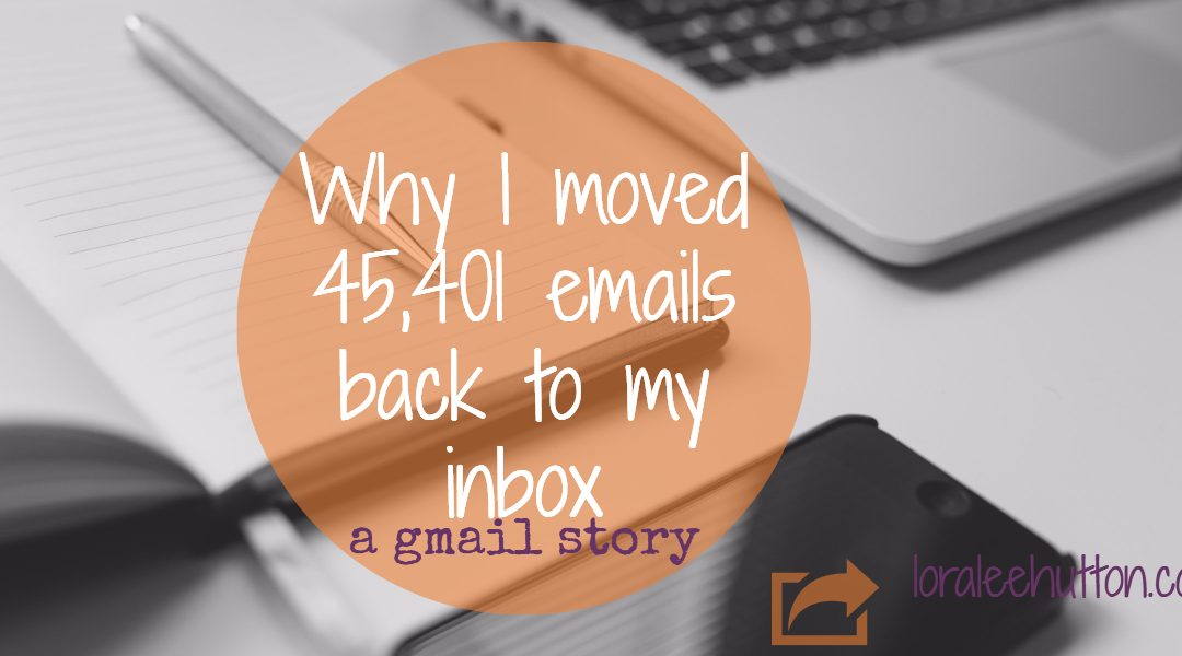 Why I moved 45,401 emails back to my inbox - a gmail story